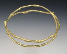 Double wrap twig bangle
