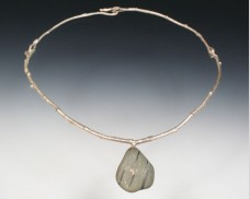 Twig & beachstone necklace