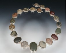 Sterling silver beachstone necklace