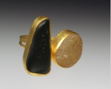 Two stone beachstone ring