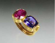 Two gemstone ring