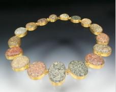 Graduated granite necklace