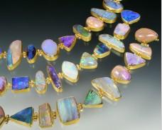 22K gold opal bracelet