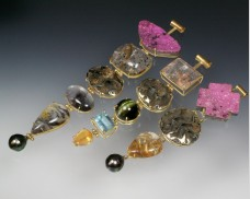 Gemstone drop pendants