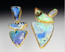 Stacking opal pendant