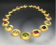 Gemstone disc necklace