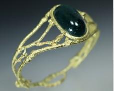 Tourmaline hinged bracelet