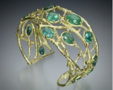 Emerald and Diamond Cuff