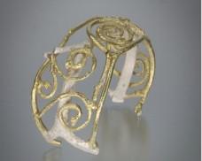 Spiral cuff with silver