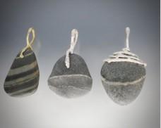 Twig and beachstone pendant