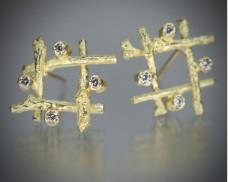 Hashtag earrings