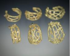 Twig hoop earrings large