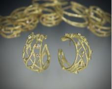 Twig hoop earrings medium