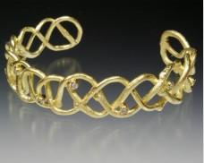 Woven twig bracelet