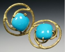 Twig & turquoise earrings