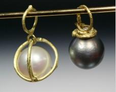 Twig pearl pendants