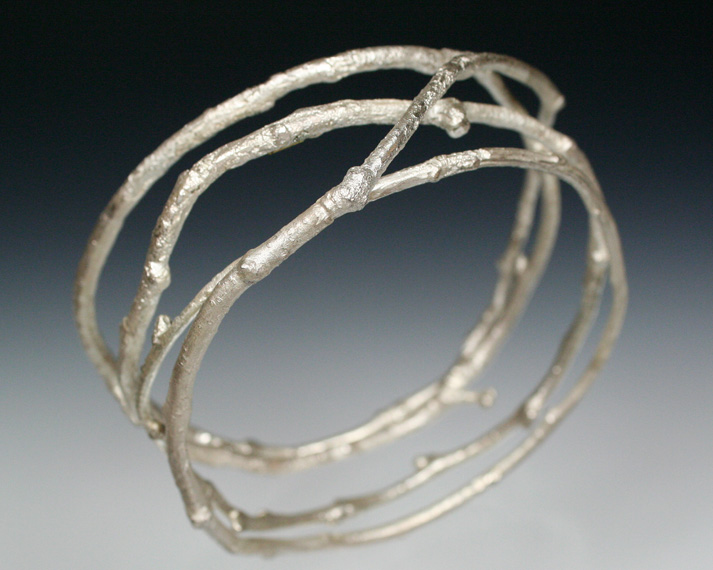Quadruple twig bangle